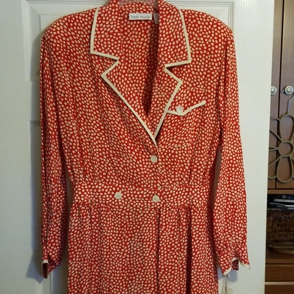 Frank Young Dresses & Skirts - Red polka dot dress